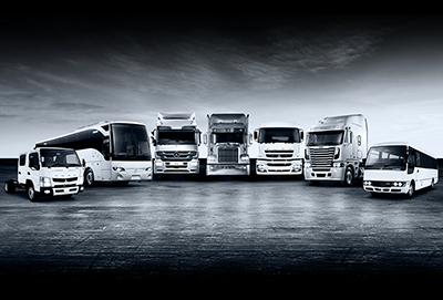 The Daimler range of trucks and buses