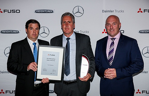 Metro and Rural dealers of the year with Fuso CEO