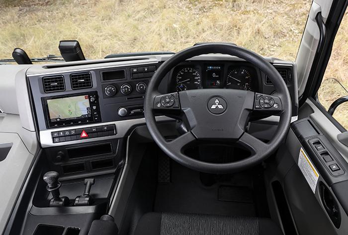 View as driver in Fuso Shogun