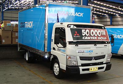 The 50,000th Canter sold delivered to StarTrack Express