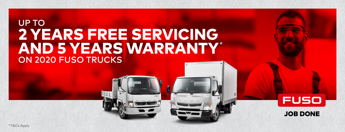Up to 2 Years Free Servicing And 5 Years Warranty On 2020 Fuso Trucks