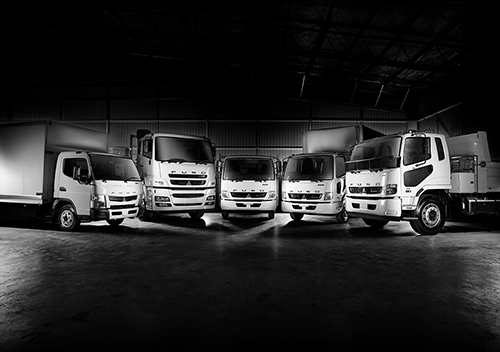Range of Fuso vehicles