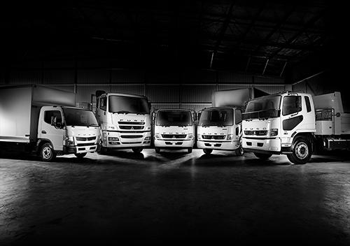 Range of Fuso vehicles