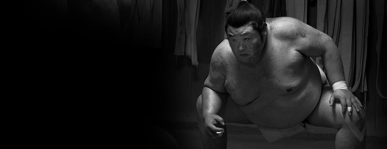 Black and white sumo image