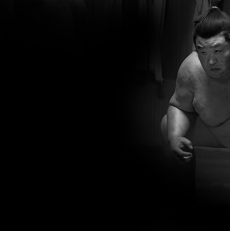 Sumo in black and white