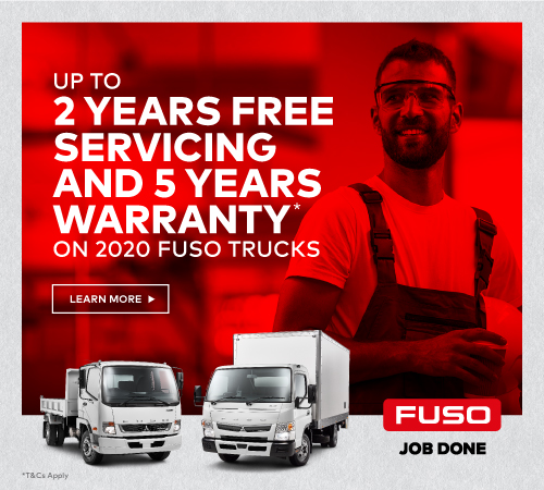 The new 2020 Fuso Rosa on the road