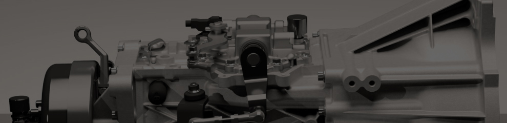 Side angle of truck engine