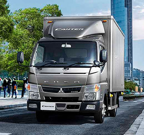 The Fuso Canter on the streets