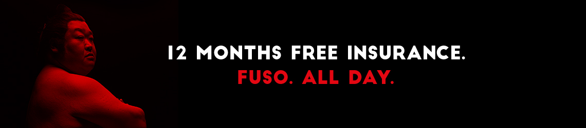 12 months free insurance. Fuso. All day.