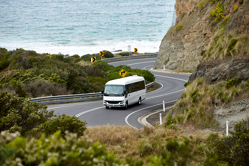 The new Fuso Rosa on the road