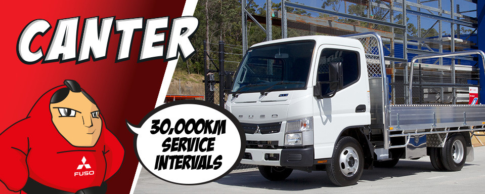 Canter - now with 30,000km Service Intervals