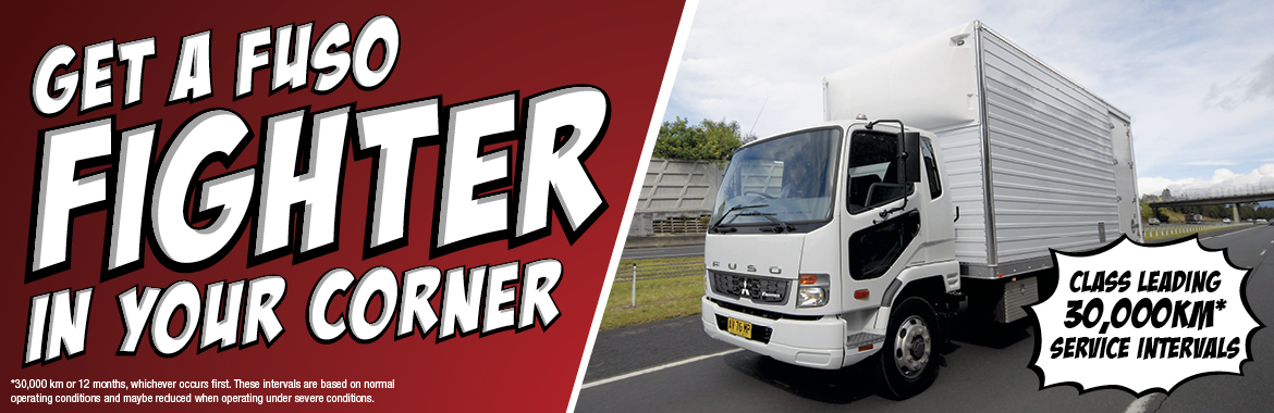 Get a Fuso Fighter (medium duty truck) in your corner!